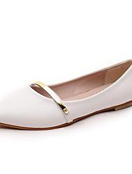 Žene Cipele Lakirana koža Proljeće Ljeto Udobne cipele Ravna potpetica Šljokice za Kauzalni Ured i karijera Obala Crn Pink