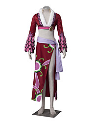 cheap -Inspired by One Piece Boa Hancock Anime Cosplay Costumes Cosplay Suits Floral Long Sleeves Coat Skirt Waist Accessory Belt For Female