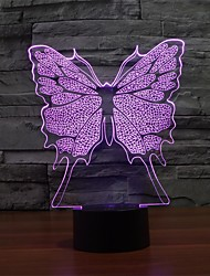 cheap -3D Night Light Fashionable Desk Lamp  LED Butterfly Shape  Novel Lamp Color-Changing Night Light