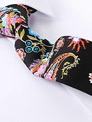 economico -cachemire nero cravatte sottili di cotone
