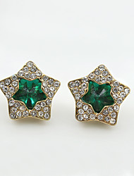 cheap -Women's Crystal Stud Earrings Earrings - Crystal, Rhinestone Star European, Fashion Black / Green / Blue For Wedding Party Daily