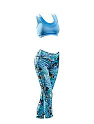 abordables -Mujer Sin Mangas Maillot de Ciclismo con Mallas - Azul Bicicleta Sets de Prendas, Impermeable, Verano