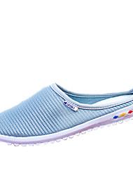 Fladsko-Tyl-Komfort-Dame-Blå Rosa Grå-Formelt Fritid-Flad hæl
