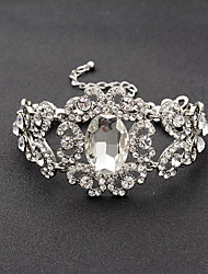 cheap -Women's Chain Bracelet Alloy Rhinestone