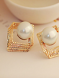 cheap -Women's Stud Earrings - Pearl, Rhinestone Vintage, Fashion Silver / Golden For Party / Daily / Casual