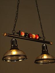 Nordic Retro Art Glass Chandelier Restaurant Bar Billiards Industrial Chandeliers