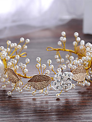 Imitation Pearl Alloy Headbands Headpiece
