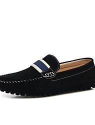 Недорогие -Муж. обувь Кожа Весна Лето Обувь для дайвинга Удобная обувь Мокасины и Свитер Ноль Ноль / для Повседневные на открытом воздухе Черный