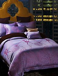cheap -Betterhome  Luxury Jacquard Silk Cotton Blend 4pcs Duvet Cover Bed Sheet Pillowcase Bed Linen