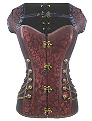 cheap -Shaperdiva Women's Gothic Steampunk Steel Boned Overbust Corsets Tops