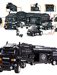WOMA Building Blocks Police car Toys Police Military DIY Kids' Kids Boys' Boys 1542 Pieces