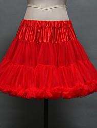 Unterhosen Abendkleid Kurz 2 Tülle Acryl Weiß Schwarz Rot
