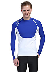 cheap -Men's Diving Rash Guard SPF30, UV Sun Protection, Quick Dry Tactel Long Sleeve Swimwear Beach Wear Sun Shirt / Top Diving / Surfing / Snorkeling