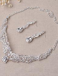 Schmuck Halsketten / Ohrringe Braut-Schmuck-Sets Modisch Hochzeit / Party 1 Set Damen Silber Hochzeitsgeschenke