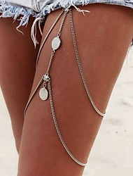 cheap -Leg Chain Body Chain - Women's Silver Tassel Sexy Multi Layer Fashion Bikini European Jewelry Body Jewelry For Christmas Gifts Daily