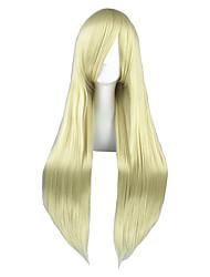 Perruques de Cosplay Chobits Chiaki Nanami Doré Long Anime Perruques de Cosplay 80 CM Fibre résistante à la chaleur Masculin / Féminin