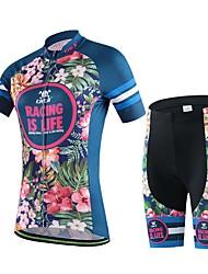 cheap -Cycling Jersey with Shorts Women's Short Sleeves Bike Top Bottoms Bike Wear Breathable Sweat-wicking Cycling / Bike Dark Blue