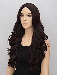 economico -Donna Parrucche sintetiche Medio Ondulati Marrone parrucca nera costumi parrucche