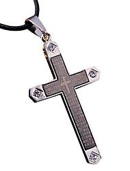 Муж. Кулоны Крест Титановая сталь Металл Мода Cool Бижутерия Назначение На каждый день
