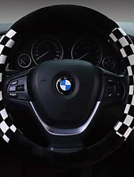 cheap -Winter Squares Plush Car Steering Wheel Set The Set Of Short Plush Steering Wheel Set Number