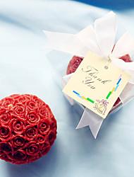abordables -demoiselles d'honneur / bachelorette rose rouge bougie faveurs (6,5 x 6,5 x 6,5 cm / boîte) souvenirs de mariage