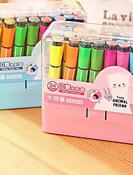 Caneta Caneta Canetas de cor de água Caneta,Plástico Barril Cores Aleatórias cores de tinta For material escolar Material de escritório