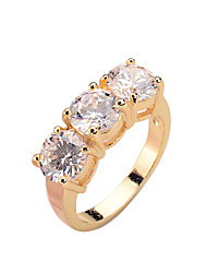cheap -Copper inlaid CZ Ring Korean Trend rose gold platinum gold Gold Ladies Ring color