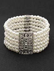 pulseira de cadeia feminina pulseira de diamante de strass estilo feminino clássico
