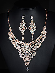 Women's Rhinestone Wedding Party Special Occasion Anniversary Birthday Engagement Alloy Earrings Necklaces