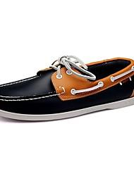 Herren Schuhe Leder Frühling Sommer Herbst Winter Komfort Bootsschuhe Walking Schnürsenkel Für Normal Beige Braun Rot