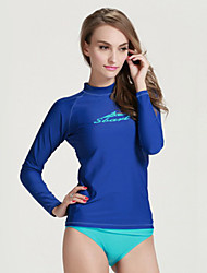 SBART Women's Wetsuits Dive Skins Diving Rash Guard Ultraviolet Resistant Compression Tactel Diving Suit Long Sleeves Diving Suits