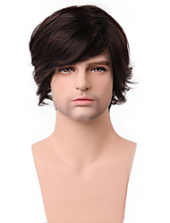 cheap -Boutique Last Long Fluffy Medium 100% Human Hair Capless Wig For Fashion Men