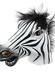 cheap -Fun Halloween Mask Realistic Latex Horse Head /Interesting Funny Party Masquerade Masks Silicone Face Zebra Mask