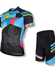 povoljno -SPAKCT Muškarci Kratkih rukava Biciklistička majica s kratkim hlačama - Crn Bicikl Kratke hlače Biciklistička majica Kompleti odjeće, Pad