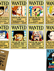 cheap -Cosplay Accessories Inspired by One Piece Monkey D. Luffy Anime Cosplay Accessories Card Yellow Paper Male / Female