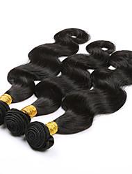 billige -3 Bundler Brasiliansk hår Krop Bølge Jomfruhår Menneskehår, Bølget Menneskehår Vævninger 8a Menneskehår Extensions