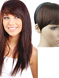 cheap -capless headband straight synthetic side bang multi colors