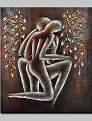 preiswerte -Hand bemalt abstrakten Liebhaber nackt Ölgemälde auf Leinwand Wandkunst Bild mit gestreckten Rahmen fertig zum Aufhängen