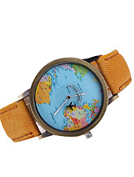 cheap -Men's Quartz Japanese Quartz Wrist Watch World Map Pattern Casual Watch Leather Band Charm Dress Watch Black White Brown Multi-Colored
