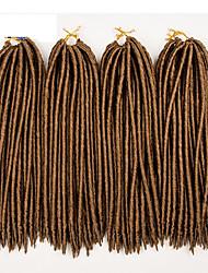 Недорогие -Косы в технике Кроше Гавана Искусственные дреды в технике Кроше Искусственные дреды Расширения Dreadlock 100% волосы канеколон дредлоки