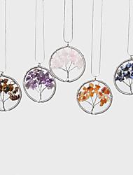 abordables -Mujer Pavo real Copo de Nieve Casual Moda Collares con colgantes Piedra Preciosa y Cristal Piedras preciosas sintéticas Acero inoxidable