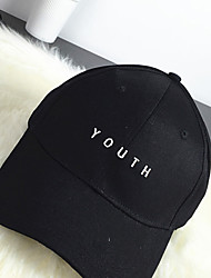 Women's Cotton Baseball Cap,Casual Solid All Seasons