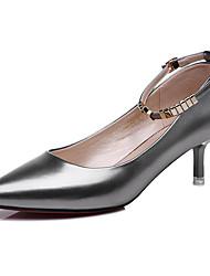 abordables -Femme Chaussures à Talons Cuir Verni Printemps Eté Automne Hiver Décontracté Paillette Brillante Talon Aiguille Noir Argent 5 à 7 cm
