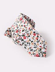 Недорогие -белые цветочные тощие галстуки хлопок