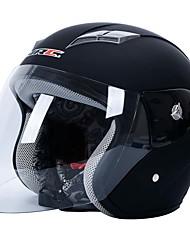 nero trasparente guscio di plastica della motocicletta del motociclo casco mezzo w paletta visiera