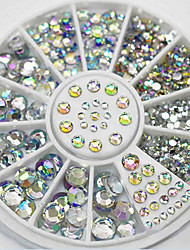 cheap -4 Size 280pcs Nail Art Tips Crystal Glitter Rhinestone Decoration Wheel