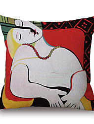 cheap -pcs Cotton/Linen Pillow Case, Geometric Graphic Prints Casual Traditional/Classic Modern/Contemporary