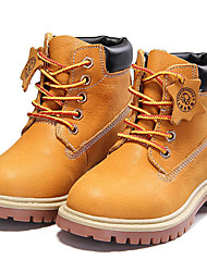 Недорогие -Мальчики Обувь Наппа Leather Осень / Зима Удобная обувь / В ковбойском стиле Ботинки для Коричневый