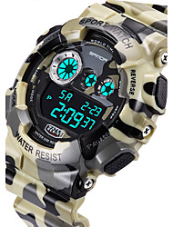 cheap -SANDA® Men's Military Camouflage Design Digital LCD Waterproof Sports Watch