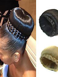 Недорогие -Свадебные прически шиньон бун клип косички синтетические прямые наращивание волос